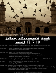Islam Awarness Week Event Flier